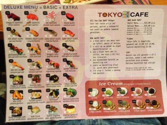 Tokyo Cafe : Menu