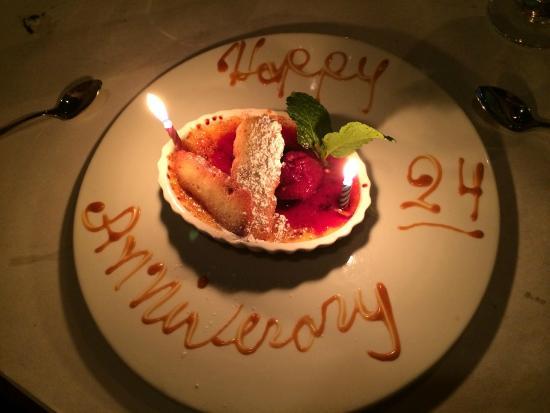 Fiamma: Anniversary dessert!