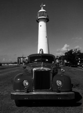 Biloxi Lighthouse...with Old Fire Truck