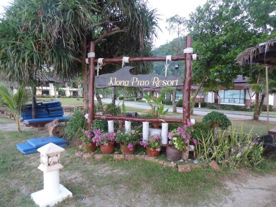 Klong Prao Resort Koh Chang: надпись