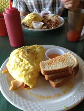 Ono Family Restaurant and Shave Ice: Local Boy Omelette in Foreground
