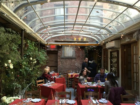 Foods Of New York Tours: The Covered Garden Inside Palma Restaurant