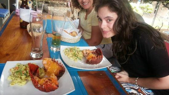 Buganvilla Cafe : los platos de langosta
