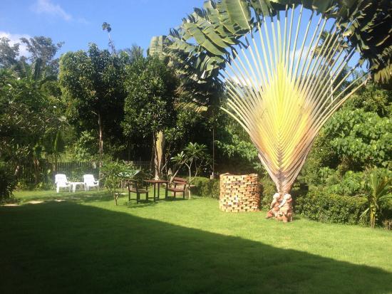 Lanta Thip House: Jardin devant bungalow