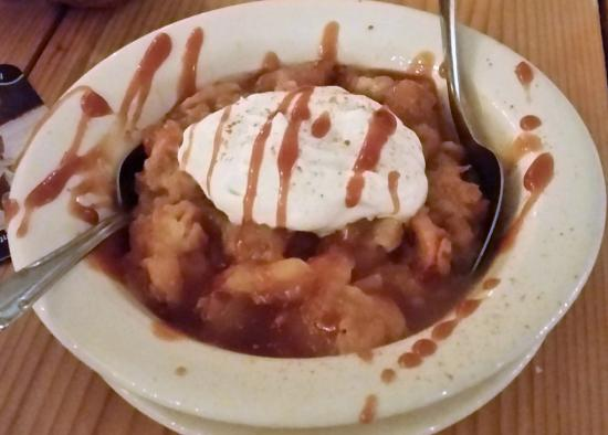 Abeel's Restaurant: Hot Apple Crisp topped with cinnamon whipped cream.