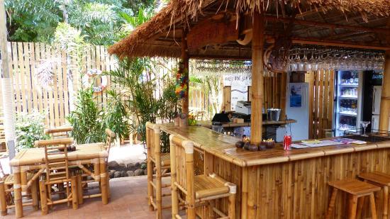 gilligans cafe bar the inviting bamboo bar in the backyard