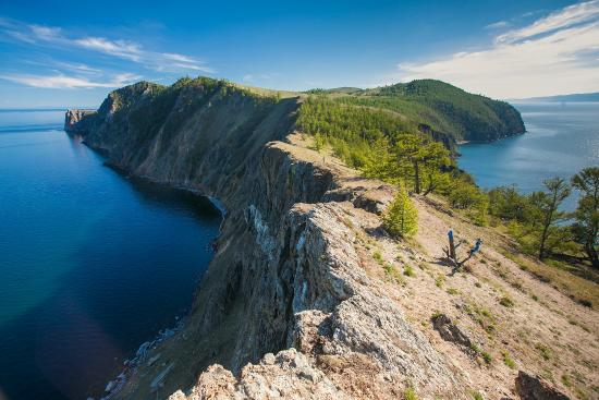 Lake Baikal, Ρωσία: Остров Ольхон, мыс Хобой.