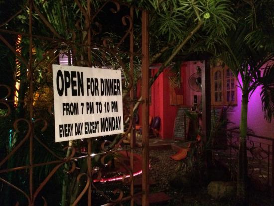 The Boudoir: opening hours