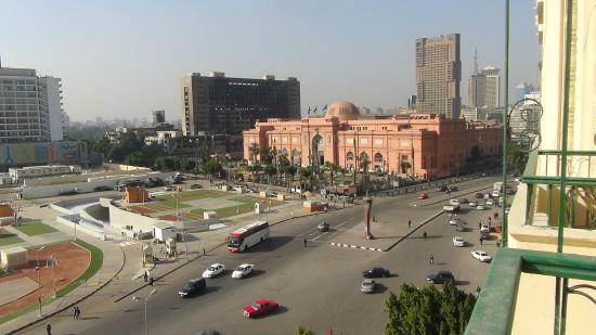 View from the City View hotel towards the Egyptian Museum