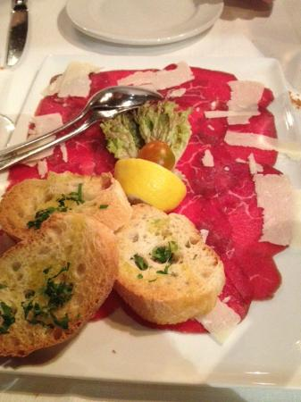 Restaurant Sigmund Ristorante: Carpaccio di filetto di manzo