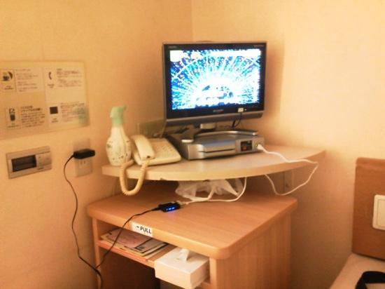 R&B Hotel Higashi Nihonbashi: テレビ廻り