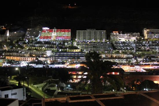 Cumana Apartments: Puerto Rico by night as seen from balcony 508