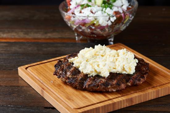 Kaffana: Pljeskavica Za Kajmak (Beef/Pork Patty Served With Homemade Cheese Curd)