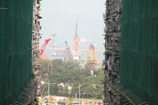 West Hotel: uitzicht vanuit onze kamer