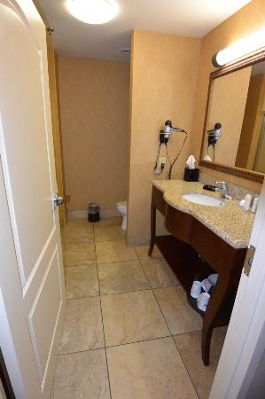 Hampton Inn & Suites Sevierville @ Stadium Drive: Bathroom at Hampton Inn in king-bed room.