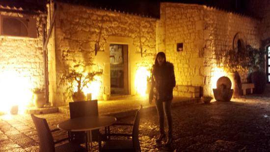 Court yard by night at Eremo della Giubiliana