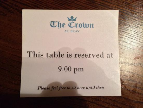 The Crown At Bray: Very welcoming..