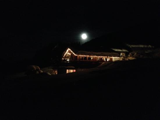 Baita Le Lische: serata di luna piena