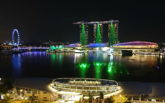 The Fullerton Hotel Singapore Blick Von Rooftop Bar
