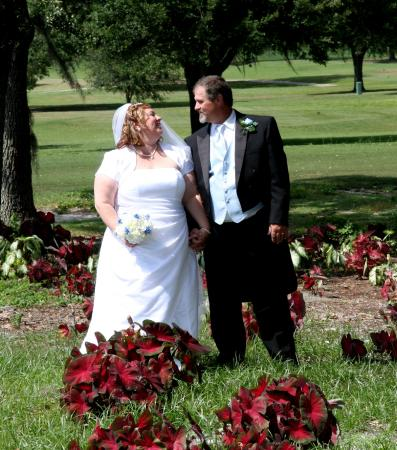 Brooksville Country Club: Us in the garden, by one of the golf holes