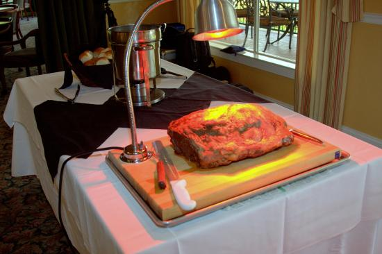 Brooksville Country Club: Prime Rib for our guest at the reception