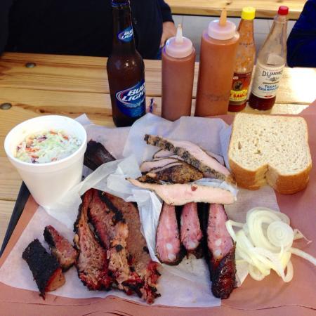 Hays County BBQ: 1 lb of turkey, 1 lb of ribs, 1 lb of brisket