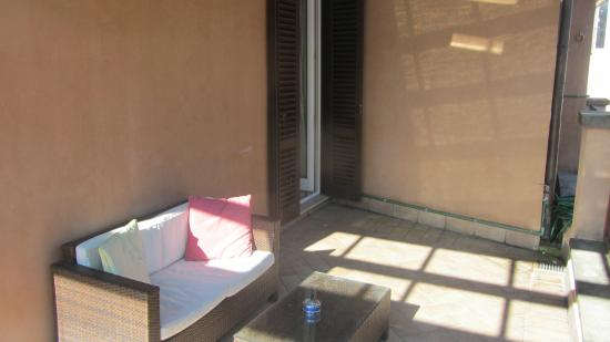 Residenza Canali ai Coronari: the private terrace, room 41