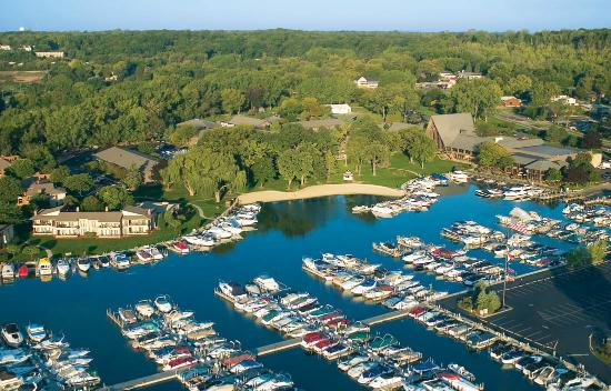 The Abbey Resort & Avani Spa: Ariel view of hotel and harbor
