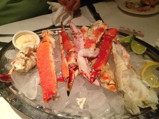 The King Crab Legs Over Ice At Charley S Steak House Orlando Fl