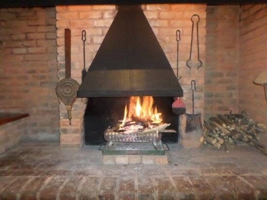 Strawberry Hill Hotel: Awesome fireplace at Strawberry Hill restaurant