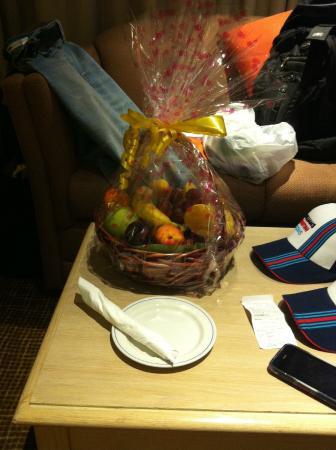 Cesta de frutas que ganhamos