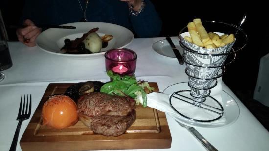 The Warren Lodge Hotel : Ribeye steak