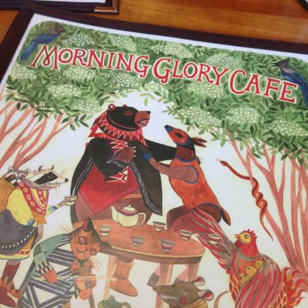 Morning Glory Cafe: Menu Art