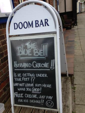 Blue Bell Inn: Visit the husband creche.