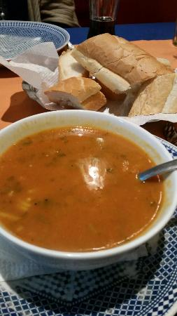La Cote D'Or - Cafe & Restaurant : Harira soup nice with salt and pepper!