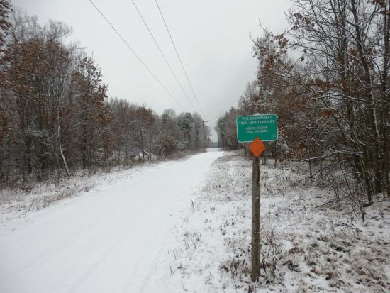Super 8 Grayling: Snowmobile Trail Head
