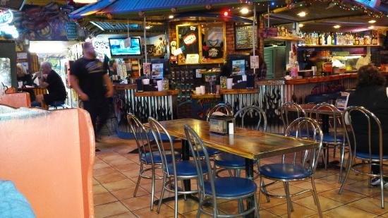 Chuy's Mesquite Broiler Restaurant: Open seating and fast service. (you order from the bar)