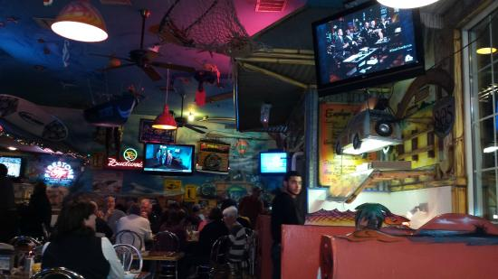 Chuy's Mesquite Broiler Restaurant: TVs everywhere, great if you want to see the game.