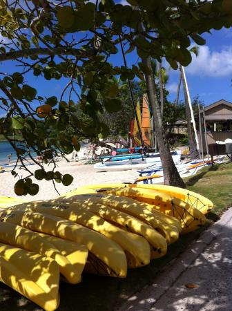 Caneel Bay Beach: Beach kayak rentals available