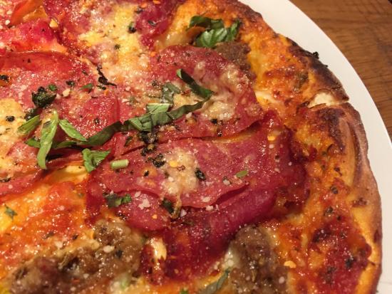 Thin crust Sicilian pizza - Picture of California Pizza Kitchen ...