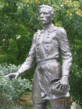 Joshua L. Chamberlain Museum : Statue of Joshua L. Chamberlain