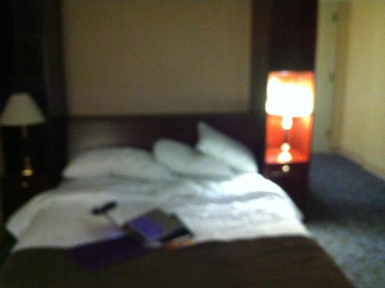 Delta Hotels Calgary Airport In-Terminal : Murphy bed with side lamps tucked away