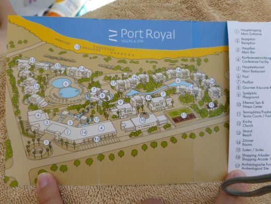 Sentido Port Royal Villas & Spa: Plan de l'hôtel