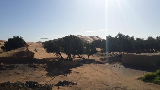 Kasbah Le: Vue de la terrasse sur les dunes