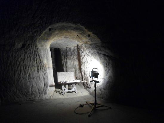 Wabasha Street Caves: A look inside a very dark tunnel