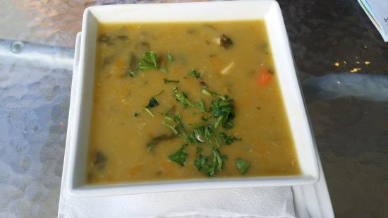 Blue Monkey Cafe: blackened pea and pumpkin soup