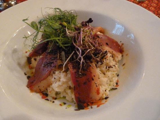 Soul Cafe and Restaurant: Risotto with cheese and Goose Liver
