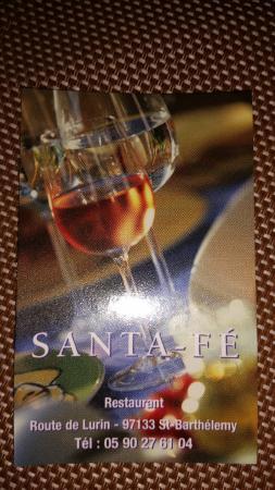 Santa Fe: Their card