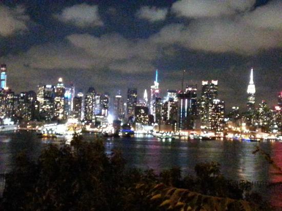 Hoboken Waterfront Walkway View Of The New York Skyline