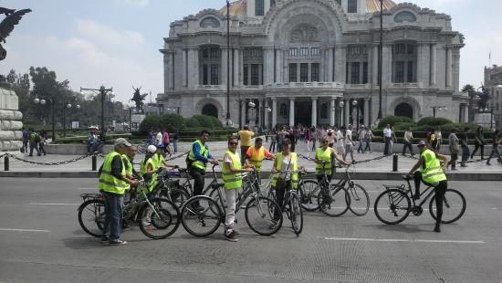 Mexico Bike Tour: Palacio de Bellas Artes.